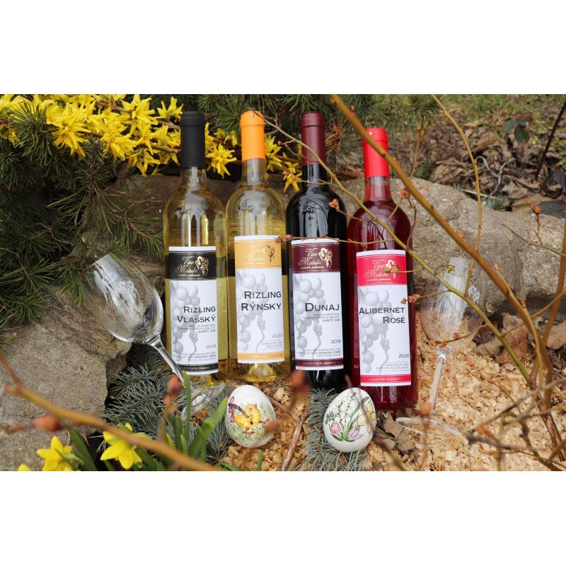 Jarný set vín s pohármi